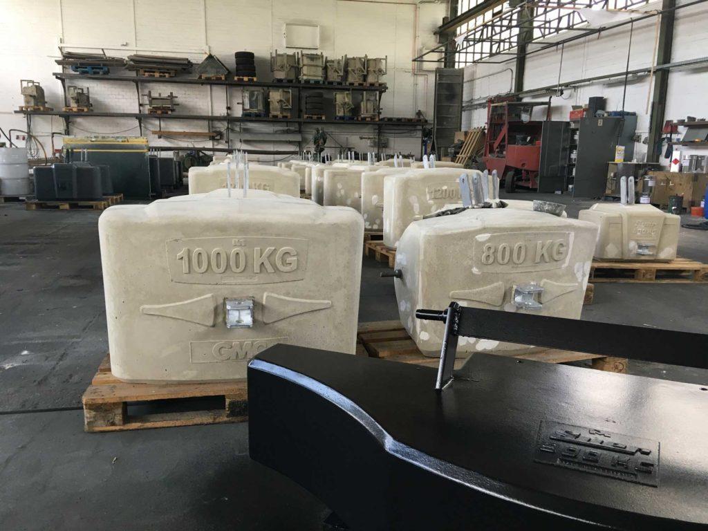 Ballastgewichte für Traktoren aus Beton - 1000kg