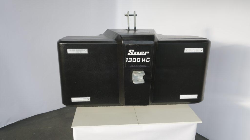 Ballastgewicht für Traktoren aus Stahlbeton 1300kg Schwarz