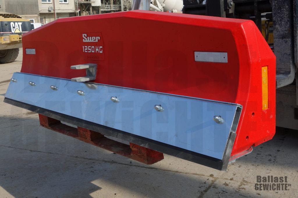Ballastgewicht für Traktor mit Schieber-Funktion Gummikante