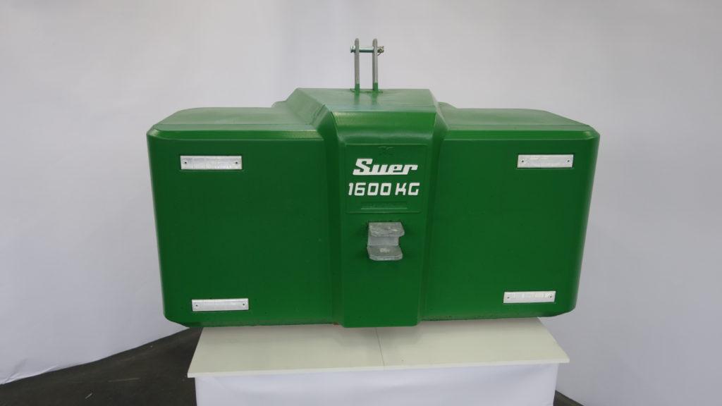 Ballastgewicht für Traktoren aus Stahlbeton 1600kg Grün
