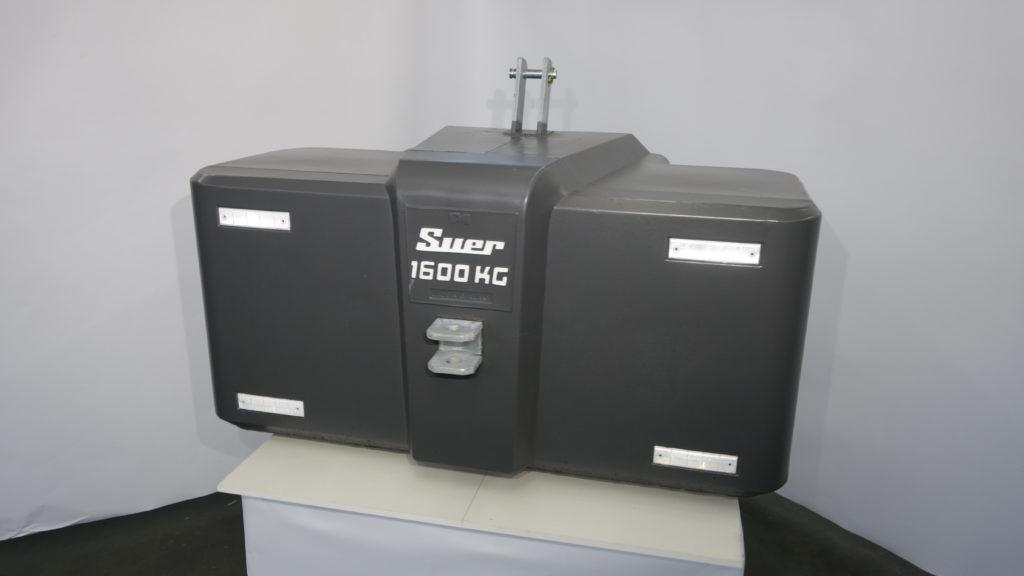 Ballastgewicht für Traktoren aus Stahlbeton 1600kg Grau