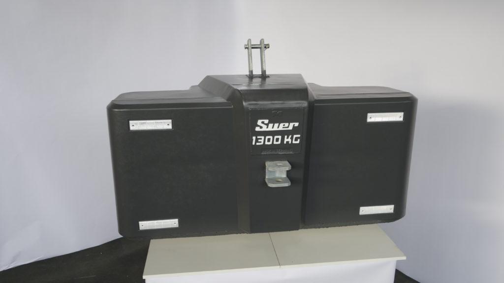 Ballastgewicht für Traktoren aus Stahlbeton 1300kg Grau